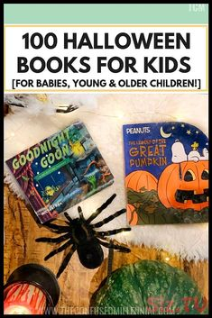 100 Halloween Books For Kids [For Babies, Young and Older Children!] - The Confused Millennial Halloween Books For Kids, Halloween Movies List, First Halloween, Scary Halloween, Dollar Tree Halloween Decor, Diy Halloween Decorations, Halloween Crafts, Halloween Costumes, Pumpkin Patch Party