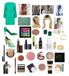 """Sunday Morning"" by mikahelaine on Polyvore featuring Maje, Gianvito Rossi, Valentino, NYX, Hourglass Cosmetics, Buxom, Too Faced Cosmetics, INIKA, Mineral Fusion and Kevyn Aucoin"
