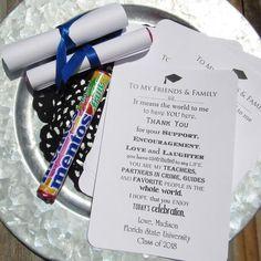 Graduation Diploma Favors - Graduation Party Favors - Graduation Party Ideas - by abbeyandizziedesigns.com
