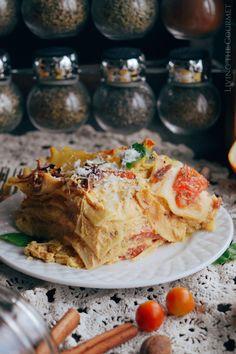 Pumpkin Lasagna - Living The Gourmet Pumpkin Lasagna, Pumpkin Soup, Canned Pumpkin, Pumpkin Recipes, Pumpkin Spice, Pork Recipes For Dinner, Italian Dinner Recipes, Yummy Pasta Recipes, Delicious Recipes