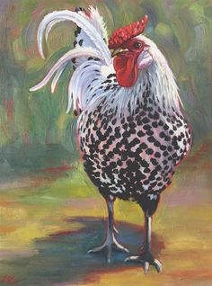 DPW Fine Art Friendly Auctions - Freckled Fowl by Connie McLennan