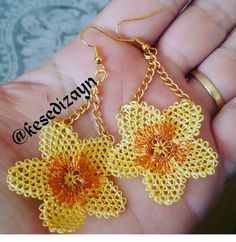 Friendship Gifts, Needle Lace, Needlepoint, Tatting, Knots, Diy And Crafts, Crochet Earrings, Jewelry, Garden