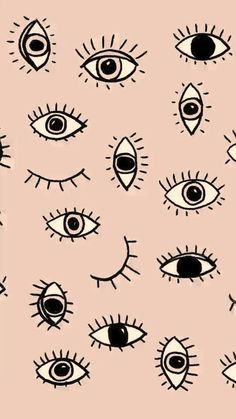 Design Wallpaper Iphone Illustration Art Prints New Ideas Eyes Wallpaper, Phone Wallpaper Design, Emoji Wallpaper, Cool Wallpaper, Pattern Wallpaper, Art And Illustration, Posca Art, Wall Paper Phone, Pattern Art