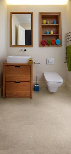 Small bathroom or under the stairs closet? Well there's never a need to avoid good design
