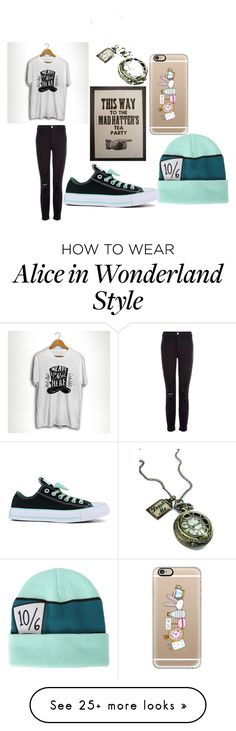 """""""#MADHATTER"""" by nunie21701 on Polyvore featuring Disney, J Brand, Converse and Casetify http://spotpopfashion.com/avia"""