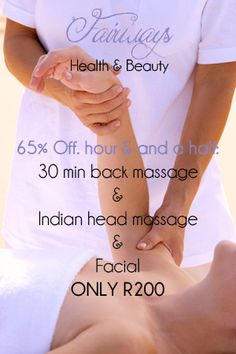 Off 3 treatments package Indian Head, Massage, Facial, Health, Facial Care, Health Care, Face Care, Salud, Faces