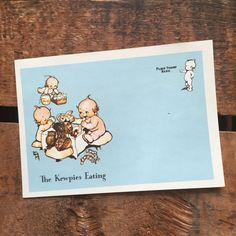 Set of four Vintage Postcards featuring adorable little colorful Kewpie dolls. Simply write your message on the back, place a stamp on the front and drop it in your mailbox!  All post cards are blank. Includes 4 cards.  Each card measures approximately 6 by 4.25 inches. Paper is a heaver weight but not as heavy as traditional post cards. Have been peeled from a pad of post cards.  Condition: Very Good: Minor wear and minor discoloration marks. ⋯⋯⋯⋯⋯⋯⋯⋯⋯⋯⋯⋯⋯⋯⋯⋯⋯⋯⋯⋯⋯⋯⋯⋯⋯⋯⋯⋯⋯⋯⋯⋯  Questions?…