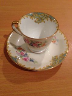 #Noritake #DELPHINA  Demitasse Cup and Saucer