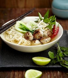 Asian Chicken Meatball Soup