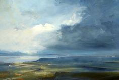 Headland, Skye - Oil on Board - Zarina Stewart-Clark, Landscape Artist
