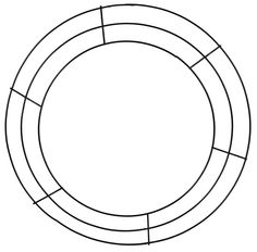 "14""DIA WIRE WREATH FRAME #wire #wreath #frame"
