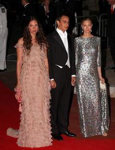 July 2, 2011 - Tatiana Santo Domingo, Alex Dellal and Beatrice Borromeo at the wedding reception for Albert and Charlene