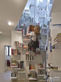 Home Design Ideas - Zillow (need this with all our decorating before and after house design room design room design interior design 2012 Creative Bookshelves, Bookshelf Design, Modern Bookshelf, Home Design, Interior Design, Design Ideas, Design Room, Floor Design, Interior Walls