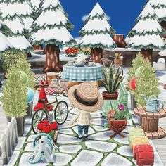 by @0310Riku on Twitter how do people make such cute campsites?? Lol