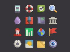Again, awesome icons by Pixeden. Download them here http://www.pixeden.com/media-icons/flat-design-icons-set-vol4