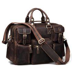 Men's Vintage Leather Business Travel Bag / Messenger / Duffle Bag / Weekend Bag