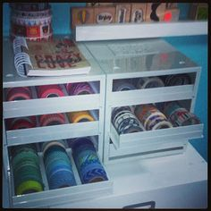 #papercraft #washi tape #organization ... At Studio D: New Washi Storage.