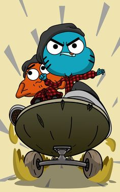"Gumball and Darwin from the episode ""The Ollie"" The Ollie Cute Wallpaper Backgrounds, Galaxy Wallpaper, Cartoon Wallpaper, Disney Wallpaper, Cute Wallpapers, Iphone Wallpaper, Cartoon Memes, Cartoon Art, Cartoons"