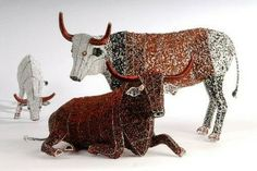 Beaded cattle.  These are excellent.  Such talent.  Really.