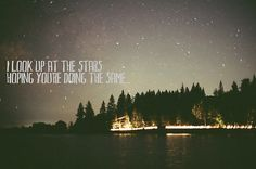 Across the ocean, we're still looking at the same stars <3