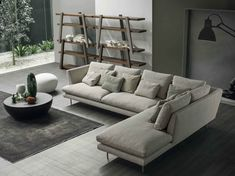 LARS Sofa with chaise longue by Bonaldo design Giuseppe Viganò