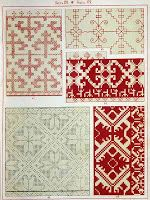 Free Easy Cross, Pattern Maker, PCStitch Charts + Free Historic Old Pattern Books: 1871 Russian Folk Ornaments - Русский народный орнамент