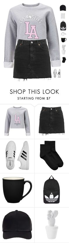 """Los angles"" by genesis129 on Polyvore featuring Miss Selfridge, Topshop, adidas, Hue, Noritake, FOSSIL and vintage"