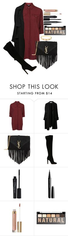 """Untitled #1355"" by fabianarveloc on Polyvore featuring Topshop, A.L.C., Yves Saint Laurent, Gianvito Rossi, Smashbox, Marc Jacobs, Stila, NYX, Cartier and women's clothing"