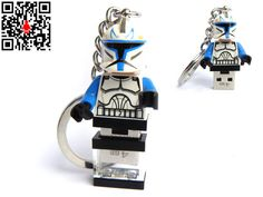 4GB USB Flash Drive in original Lego Minifigure Clone by databrick, $39.95