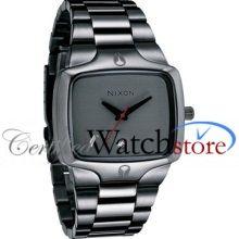 Nixon A140131-00 Watch Player Mens - Grey Dial Stainless Steel Case Quartz Movement
