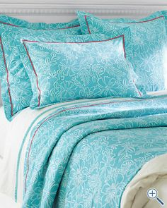 Lilly Pulitzer® Bella Coverlet and Sham from Garnet Hill- such a calm blue!