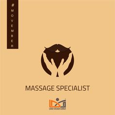 Massage Specialist - Grooming business logos for men #Movember
