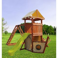 Fit-N-Fun Pegasus Wood Playset - Toys & Games - Outdoor Play - Outdoor Playsets & Accessories