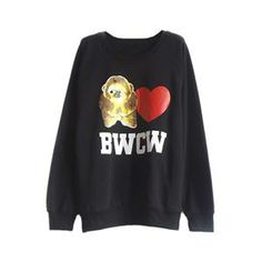 Hoodies/Sweatshirts - Panda Love BWCW Print Black Sweatshirt #Pariscoming #Paris #fallfashion #fallstyle #falltrends #fallingfor #fall #winterfashion #winterstyle #wintertrends #winterfor #winter #cardi #clothing #inspirational #fashionable #ontrend #stylist #Styling #StreetStyleSeason #streetstyle #fashionblog #fashiondiaries #fashiondiary #WearIt #WhatYouWear If you like,follow me back and find it on our online store.