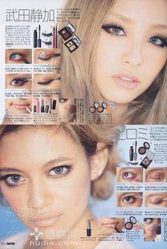 Pinkoolaid: ena matsumoto plus japanese hair and makeup tutorials Gyaru Makeup, Punk Makeup, Beauty Makeup, Hair Makeup, Asian Eye Makeup, Korean Makeup, Korean Skincare, 2000s Makeup, Everyday Makeup Tutorials