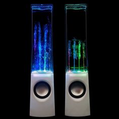 Altavoces con agua y luz a ritmo de la música - WATYFA