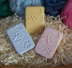 Dog Paw Prints Dog Tracks Handmade Original Puppy Dogs Pet Silicone Soap Mold…