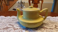 Hall China Canary Yellow Coffeltor Coffee Pot by TribecasTreasures, $100.00