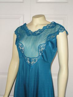 Vintage Nightgown Blush Illusion Bodice Empire by 2sweet4words, $44.99
