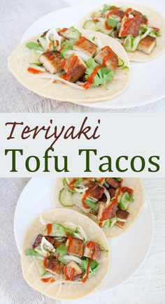 Teriyaki Tofu Tacos - These vegan fusion tacos are a nice change for taco night. They are sweet with a slight touch of spice.