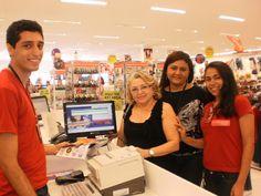 Ganhadora da promoção nas Lojas Esplanada em Fortaleza/CE