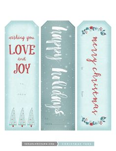Use these beautifully designed, charming printable Christmas tags from Sugar and Charm for your Christmas gifts to add a little festive charm.