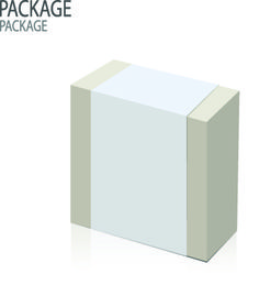 Modern cardboard package boxes illustration vector 05