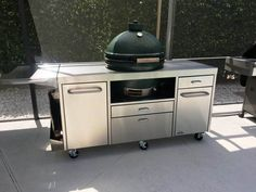 Extra Large Egg Big Green Egg Table, Green Eggs, Stainless Table, Ceramic Cooker, Outdoor Refrigerator, Spice Holder, Kamado Joe, Drawer Inserts