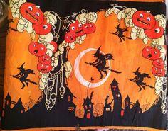 RARE Vintage Halloween 1920s Crepe Paper Banner Dennison, 9.5 Ft. Long 7 Repeats