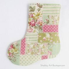 DIY–Faux Patchwork Stocking Cutlery Holder - Shabby Art Boutique