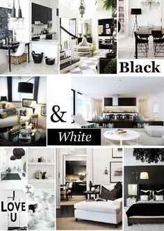 Black and white mood board