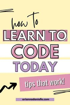 How to Learn to Code Learn Programming, Computer Programming, Programming Languages, Learn Html, Learn To Code, Coding For Beginners, Computer Technology, Computer Science, Today Tips