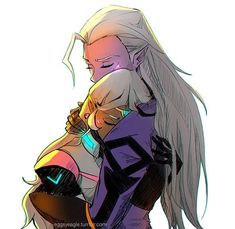 Ya know, I ship it. Coran, Haggar, Lotor and her are the last four (known) Alteans alive, gotta keep the race going somehow.