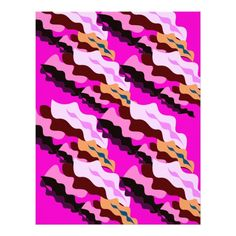Design wild pink Camouflage lines Letterhead Custom Office Party #office #partyplanning